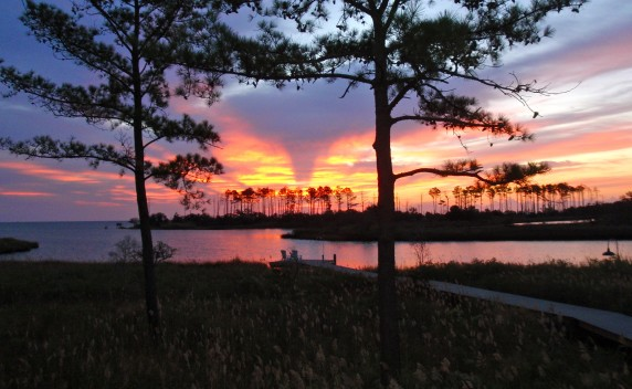 sunrise on a coastal homesite